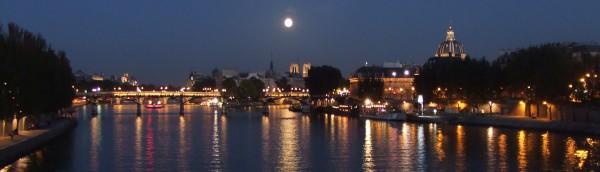 ポン・ヌフ橋と満月、パリ、Paris、France