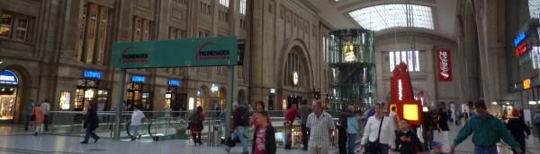 行き止まり式のDB ライプツィヒ駅 , Germany